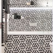 Tubes radiators in playful bathrooms